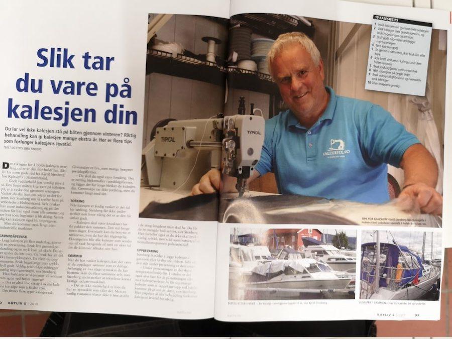 Kalesjefix-artikkel i magasinet Båtliv