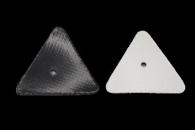 Kalesjehjerter hvite trekant, 10Pack